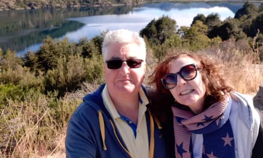Judith and David Baker were celebrating their 65th birthdays in Patagonia.