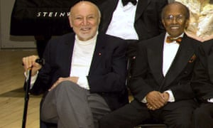 George Avakian, left, with Jimmy Heath at the National Endowment for the Arts Jazz Master Awards Ceremony and Concert in New York in 2011.