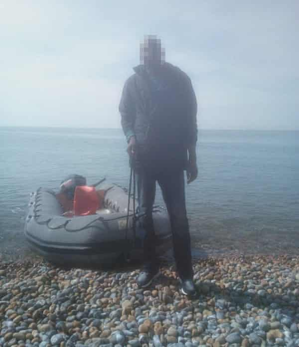 Nazeer (not his real name) arrives on the Kent coast after taking a boat from Calais.