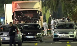 The bullet-riddled lorry which Mohamed Lahouaiej-Bouhlel drove into a crowd in Nice on 14 July