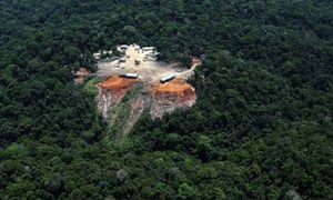 Illegal logging in Para state, Brazil. There is estimated to be $50bn a year of forest crime worldwide.