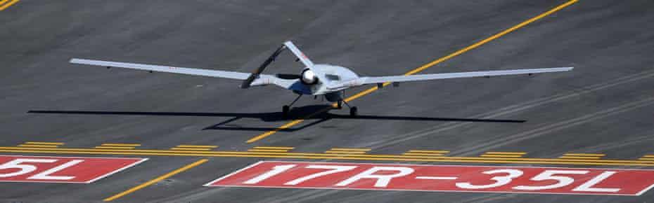 A Turkish-made Bayraktar TB2 drone.