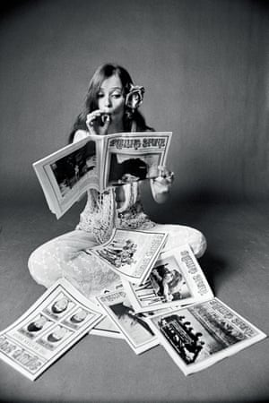 Lacy reading Rolling Stone magazine