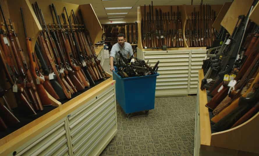 Under the Gun: there are more gun dealerships in the US than branches of McDonald's and Starbucks combined.