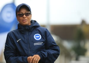 Hope Powell says when discussing the identity of Mark Sampson's successor: 'I think it's really important that there are women role models and that people have someone to aspire to.'