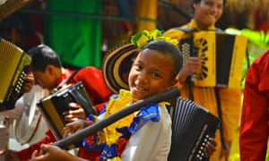 Students at the Turco Gil music academy in Valledupar, Colombia.