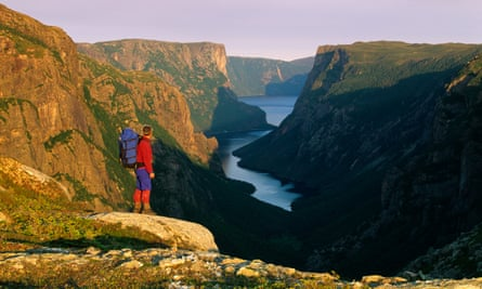 A hiker in the Gros Morne national park in Newfoundland, where most Canadians aren't, according to the Nature Conservancy of Canada's study.