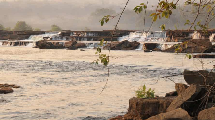 The Koukoutamba falls in Guinea