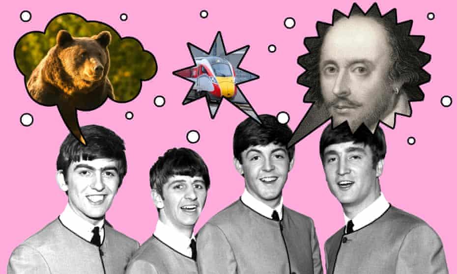 The Beatles, a bard, a bear, and a broken thing.