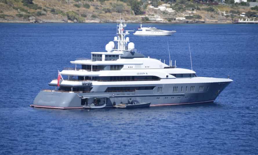 The superyacht Queen K (now renamed Clio) in 2015.