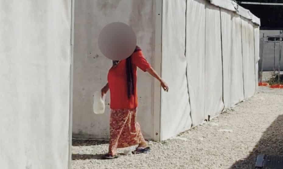 A pregnant woman in the Australian-run detention centre on Nauru.