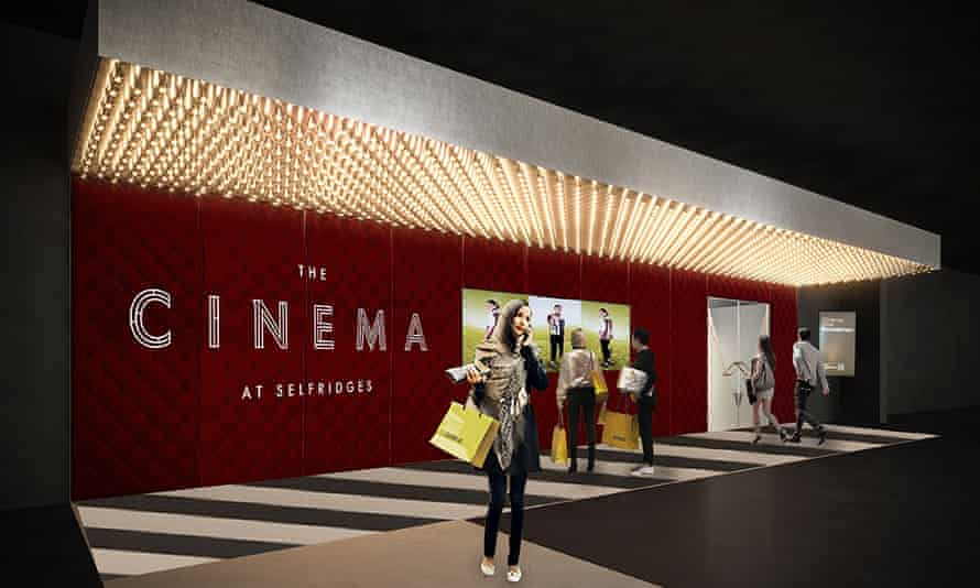 An illustration issued by Selfridges of the entrance to the new cinema, which will open in November.