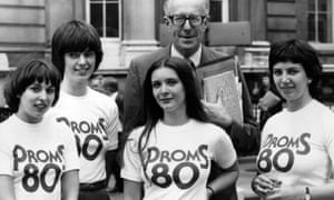 Robert Ponsonby and BBC staff promoting the 1980 Proms.