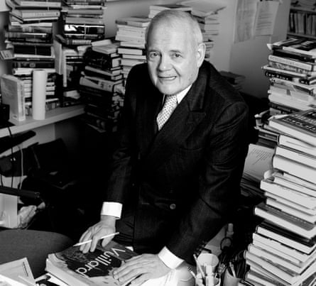 Robert Silvers in the offices of the New York Review of Books, 2004.