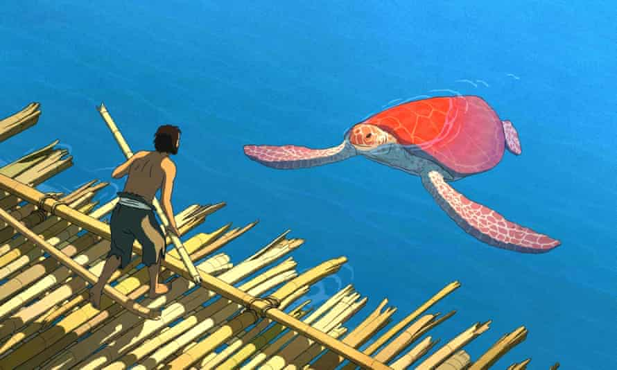 a still from animation the red turtle