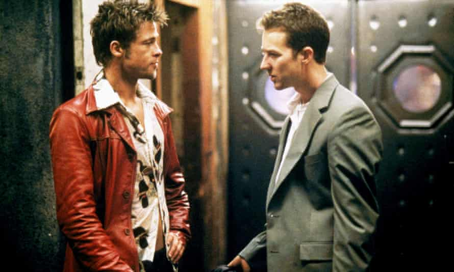 Brad Pitt and Edward Norton in Fight Club.