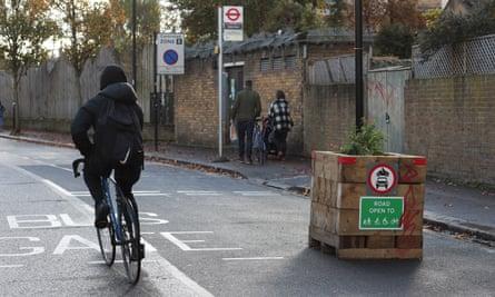 Railton Road low-traffic neighbourhood in south London.
