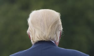 Trump's famous bouffant, blond comb-over adds to his clown-like image.