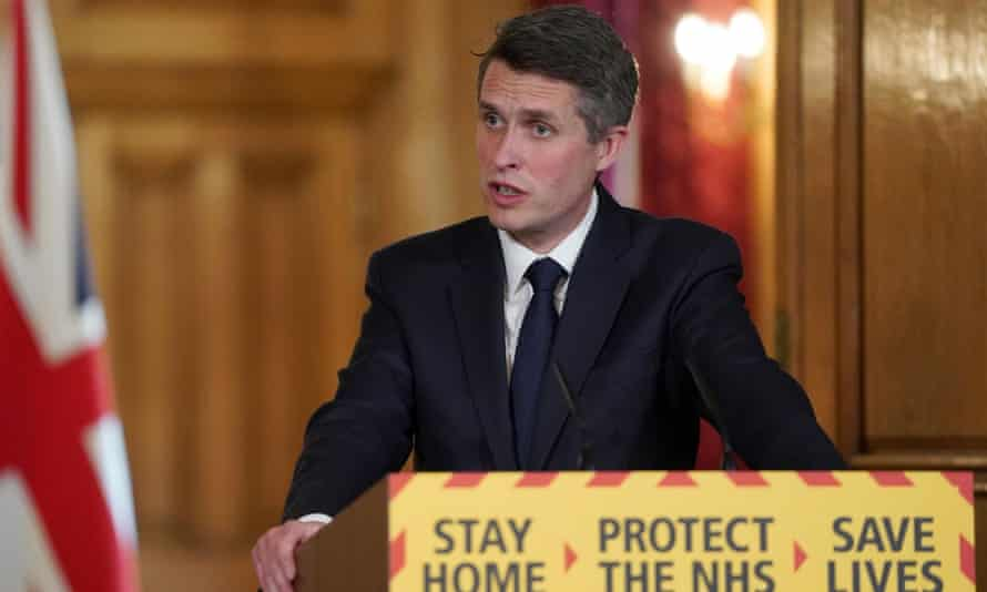 Education secretary, Gavin Williamson, speaking during a remote press conference on 19 April 19 2020.