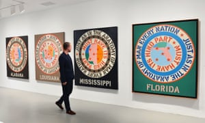 Robert Indiana's Beyond Love exhibition at the Whitney Museum of American Art, New York, in 2013.