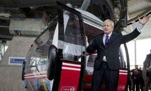 Boris Johnson's £60m Thames cable car, delivered when he was London mayor, reportedly turned out to have just four regular users.