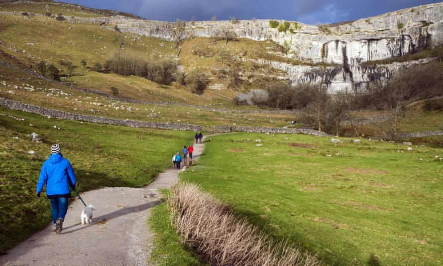 On the path to Malham Cove