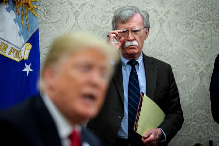 John Bolton with President Trump in the Oval Office, 28 September 2018.