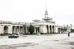 Sukhumi train station in Abkhazia