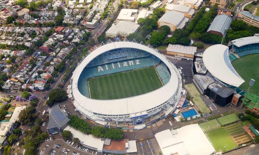 Aerial view of Allianz Stadium.