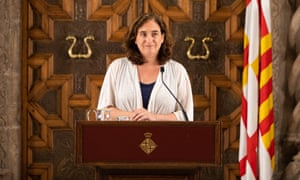 """Ada Colau, the first woman to be elected mayor of Barcelona, described her administration as a """"feminist government"""""""