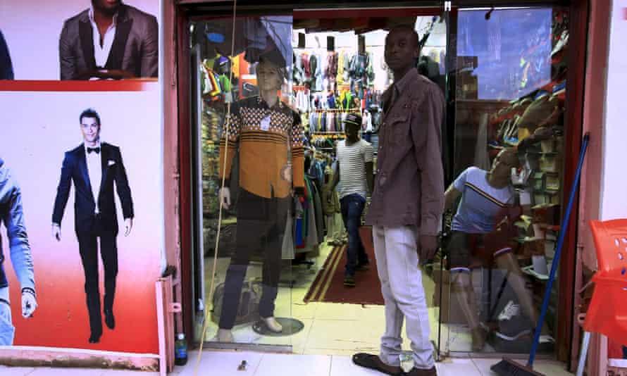 A menswear store in Khartoum.