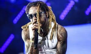 Lil Wayne performing in Los Angeles.
