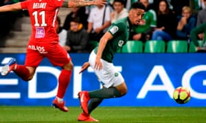 William Saliba there, escaping from a headless Ligue 1 opponent.