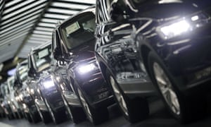 Volkswagen cars are pictured during a final quality control at the Volkswagen plant in Wolfsburg, Germany.