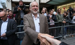 Jeremy Corbyn leaves Labour HQ in Westminster