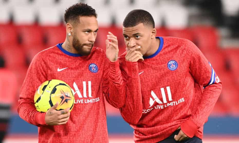 Neymar and Kylian Mbappé are the two biggest stars at PSG.
