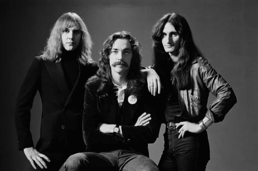 Alex Lifeson, Neil Peart and Geddy Lee in 1978