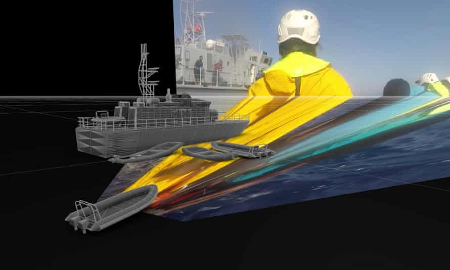 Projecting images across a 3D model can help determine real-world distances between objects.