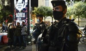 Masked police