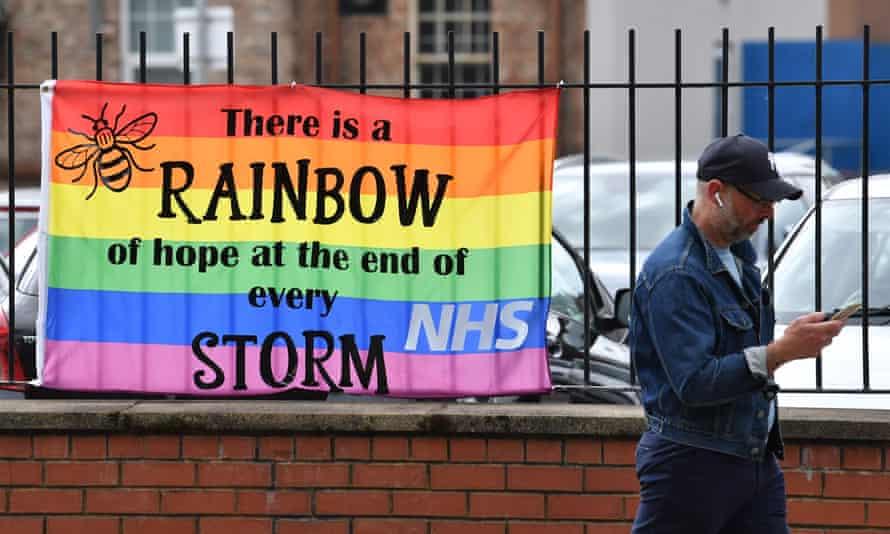 A banner outside Salford Royal hospital