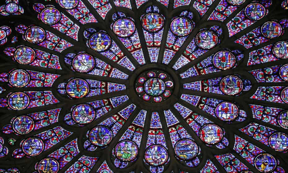 Cosmic wheels of colour … the cathedral's rose windows.