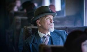 John Malkovich as Hercule Poirot in The ABC Murders.