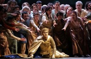 Francesco Meli as the French king Carlo VII: 'stupendous'.