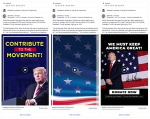 Facebook ads run by Trump's re-election campaign appeared more than 500 days before election day.