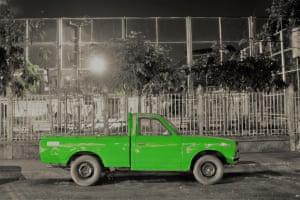 Green truckGreen truck on a Bangkok evening Photograph: ID3704786/GuardianWitness