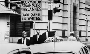 A street scene in a South African city in November 1967