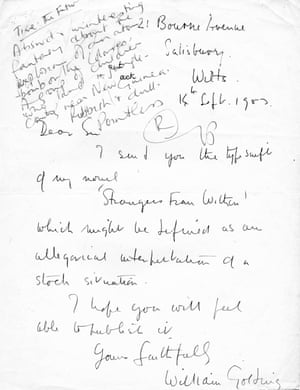 William Golding's covering letter and the Faber reader's response to his Strangers from Within (later, Lord of the Flies).