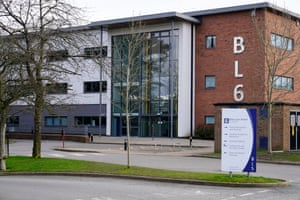 Brine Leas School, Sixth Form building, which is closed after teachers and pupils self-quarantined over coronavirus fears after returning from a ski trip in Northern Italy, February 25, 2020 in Nantwich.
