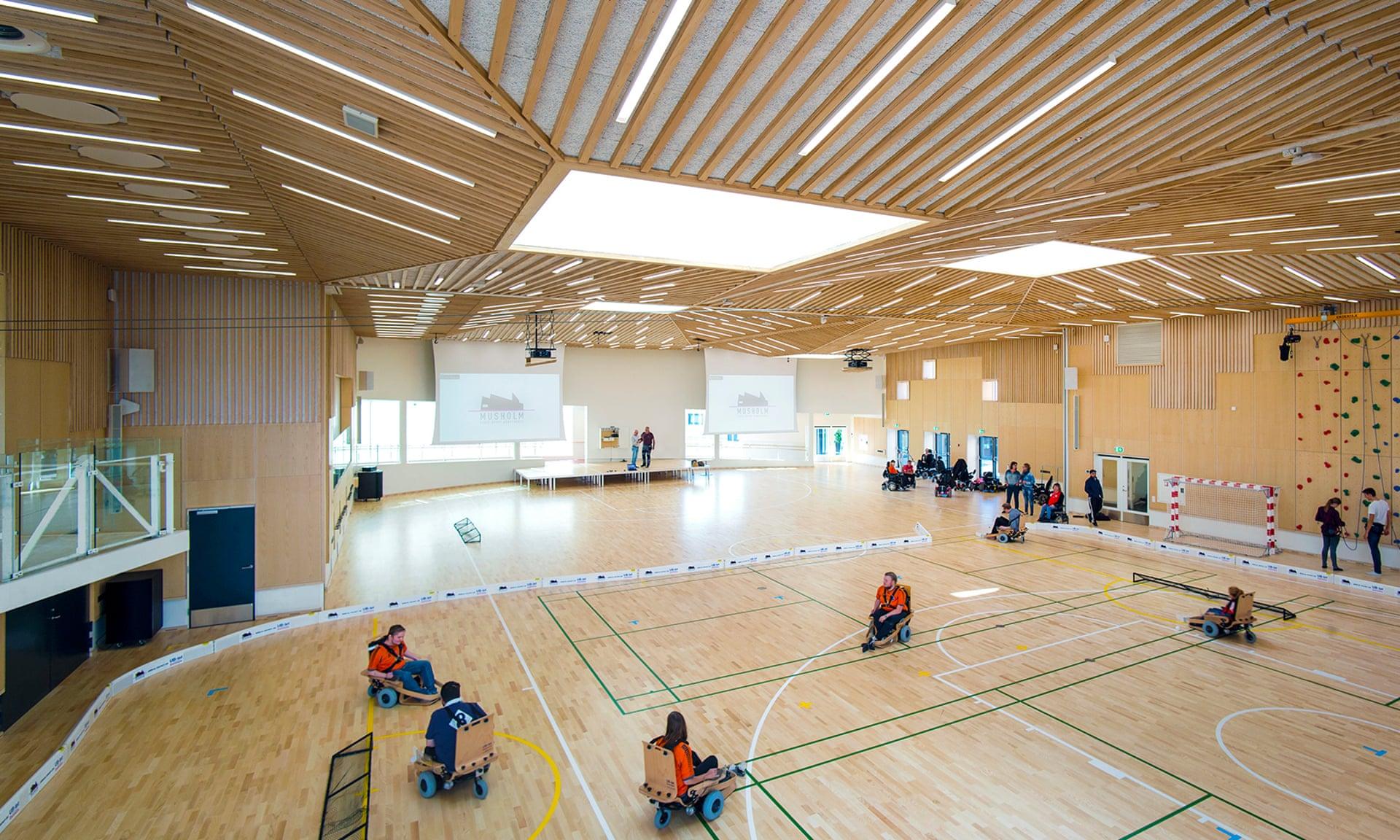 El polideportivo polivalente en el complejo de Musholm