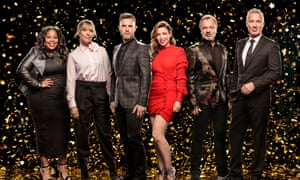 Gary Barlow with the judges and presenters of Let It Shine.